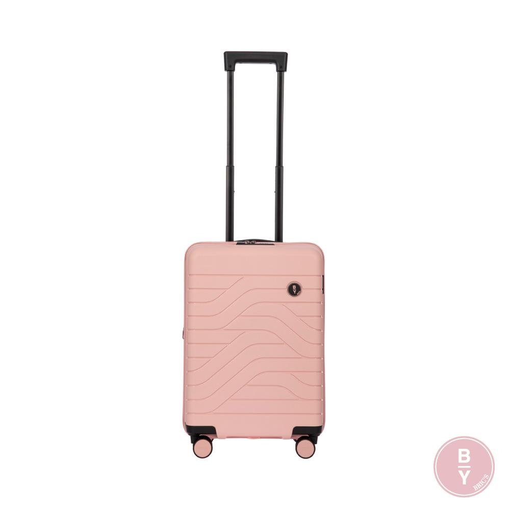 BRICS 義大利 BY Ulisse 19.5吋 玫瑰粉 可擴充拉鍊登機箱 USB充電孔