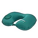 旅遊首選 按壓式U型頸枕 靠枕 午睡枕 飛機枕 護頸枕(孔雀藍)