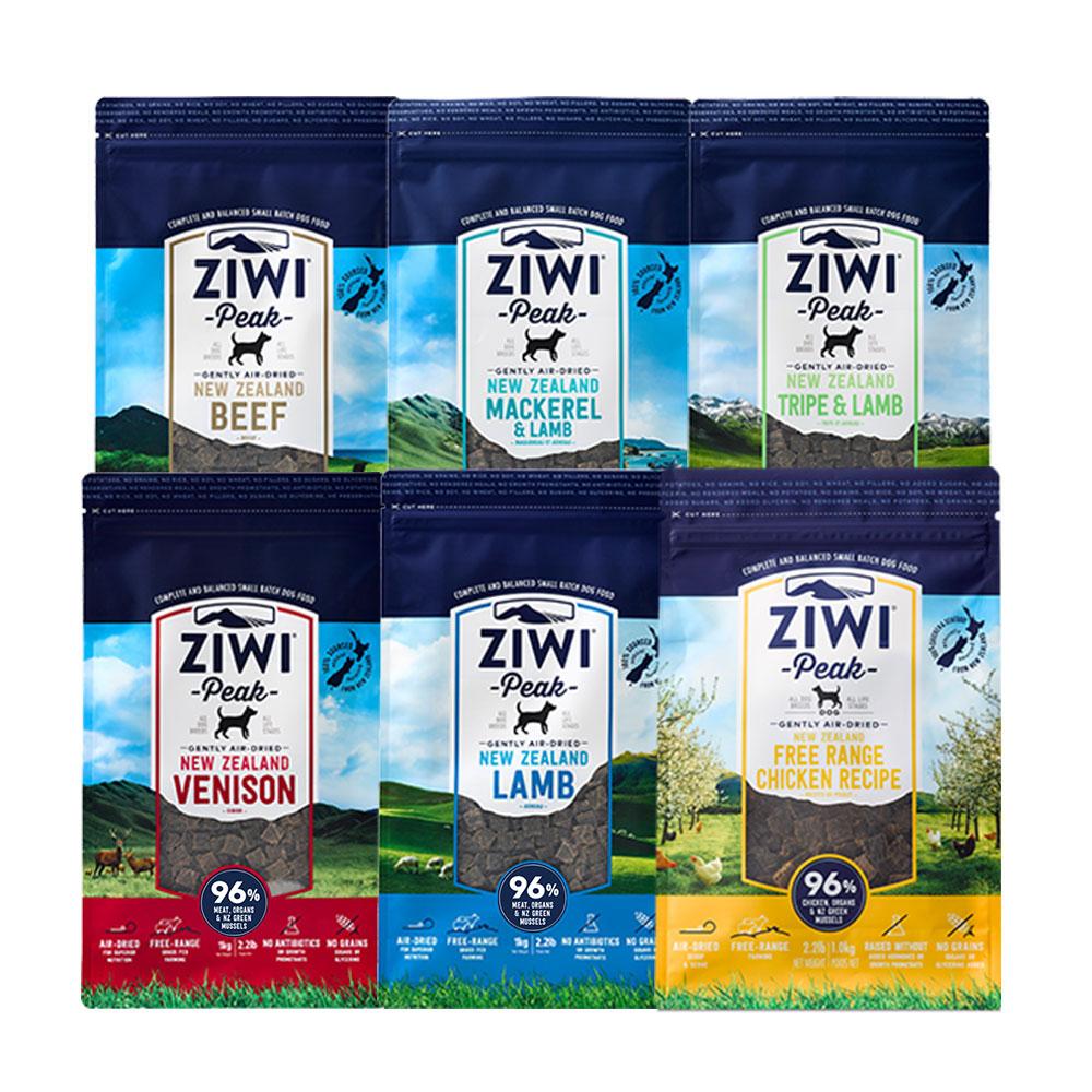ZiwiPeak巔峰 96%鮮肉狗 六種口味各一 1KG