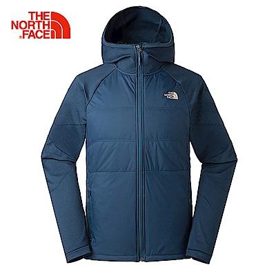 The North Face北面男款藍色無縫連帽外套|3L8DVB5