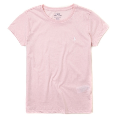 Polo Ralph Lauren 經典小馬素面短袖T恤(女)-粉紅色