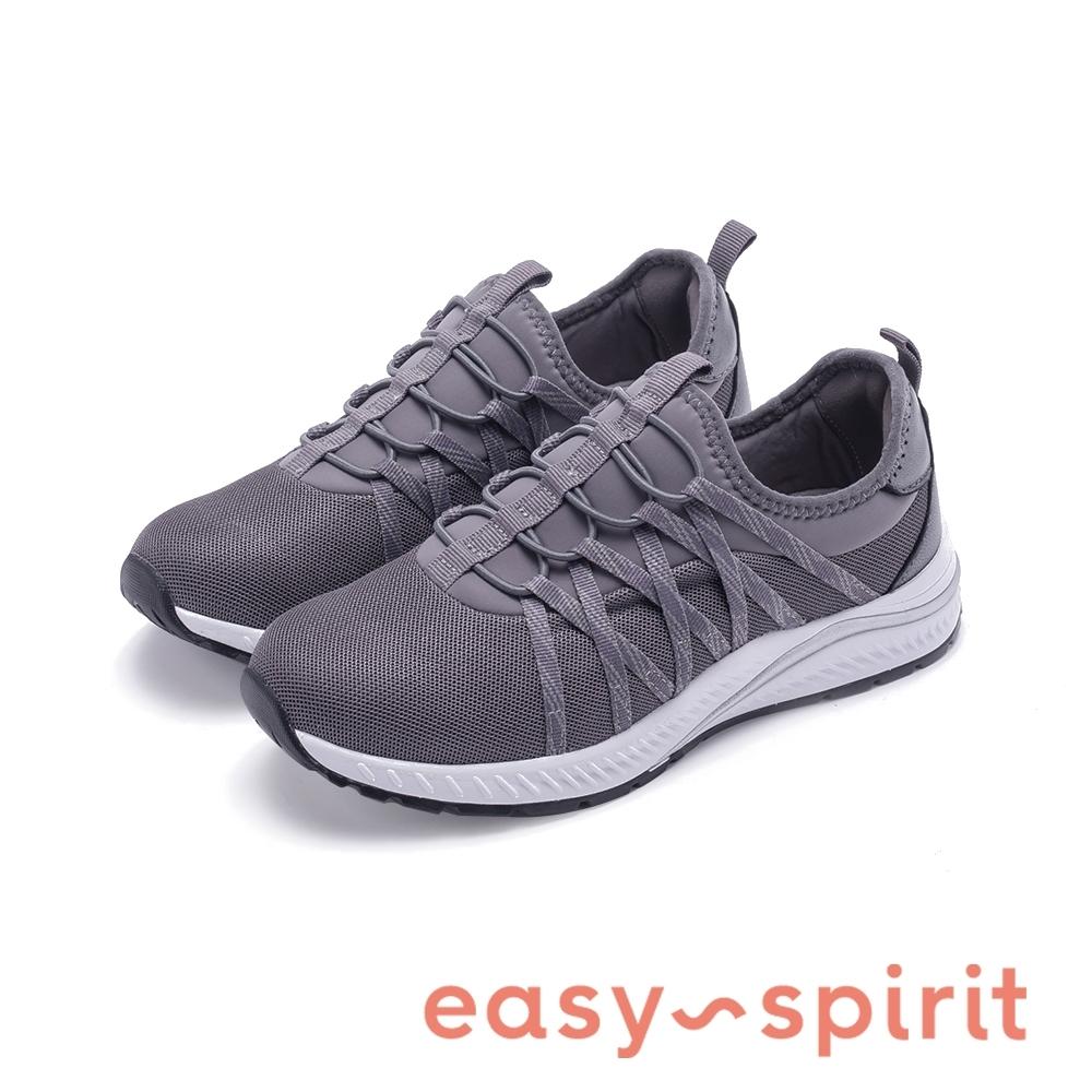 Easy Spirit-seHARPER2健走彈性帶機能運動休閒鞋-特殊紋灰色