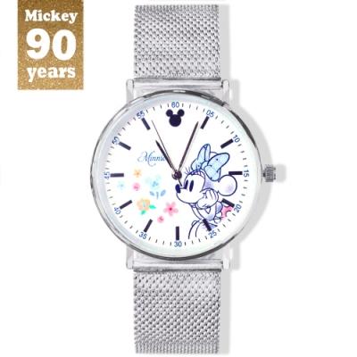 DISNEY迪士尼90周年紀念系列手錶-Minnie微笑米妮38mm米蘭帶