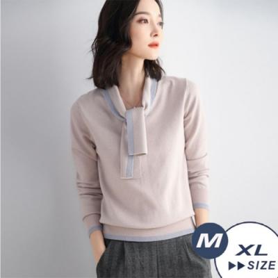 【LANNI 藍尼】 細緻金絲高貴針織衫-3色(M-XL)●