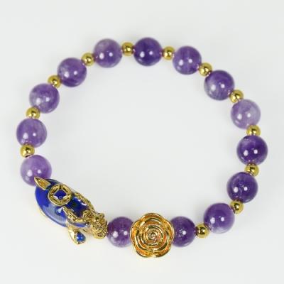 招貴人紫晶變色龍龜手鍊 林真邑