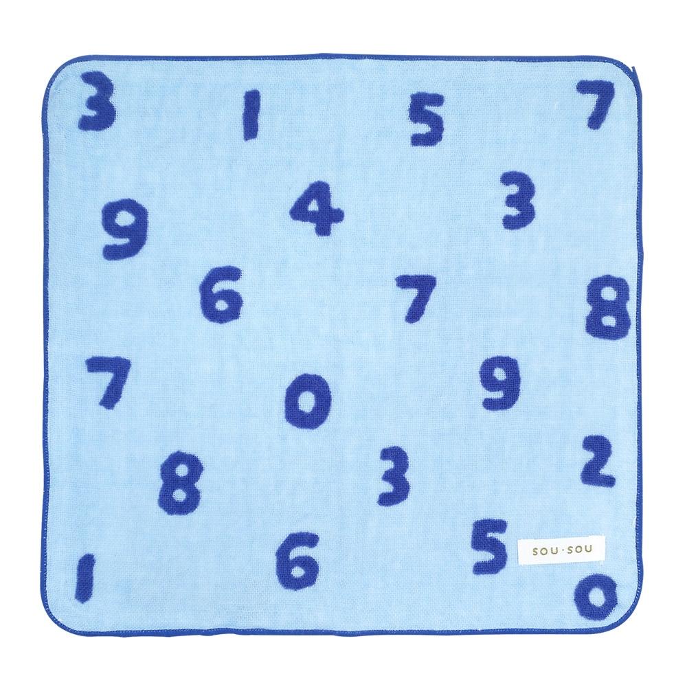 日本丸真 SOU SOU 京都新和風紗布純棉小方巾 SO-SU-U數字(共三色)