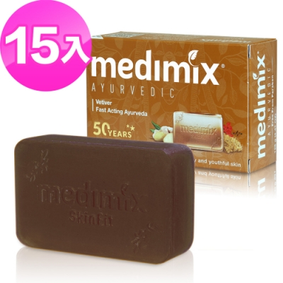 Medimix岩蘭草皇室藥草浴美肌皂125g 15入