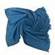 COACH 經典C LOGO羊毛流蘇絲巾圍巾-琉璃藍(展示品) product thumbnail 1