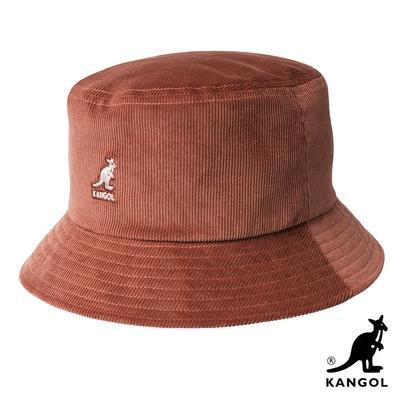 KANGOL-CORD 燈芯絨漁夫帽 -棕橘色