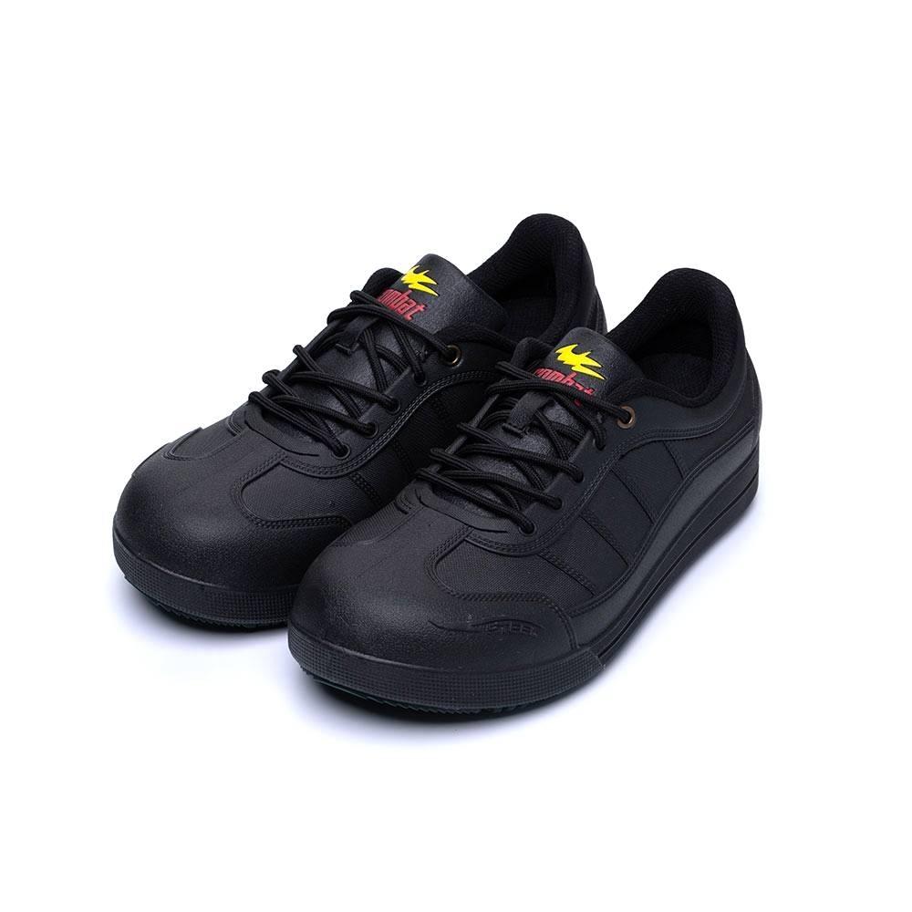 COMBAT艾樂跑男鞋-一體成型工作鞋 鋼頭鞋-黑(FA492)