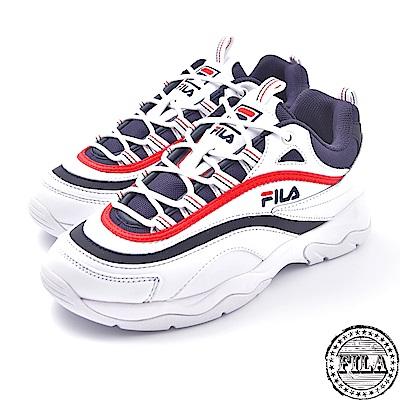 FILA  韓版厚底老爹鞋 台灣公司貨 4 C614S 123