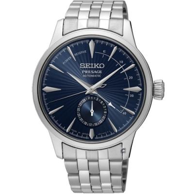 SEIKO精工Presage調酒師動力儲存顯示機械錶-藍/40.5mm