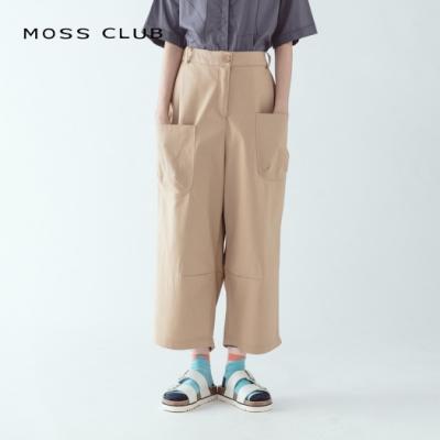 【MOSS CLUB】MIT製休閒寬鬆-長褲(卡色)