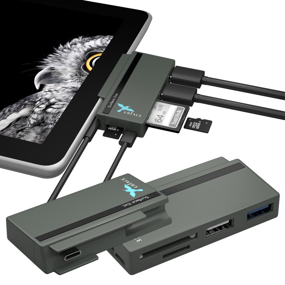 [Xurface] Surface Go專用擴充座_USB Hub+讀卡機_SGO727