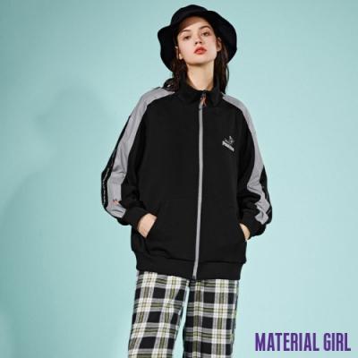 MATERIAL GIRL 反光立領皮諾丘休閒條紋外套【21春季款】-B15058