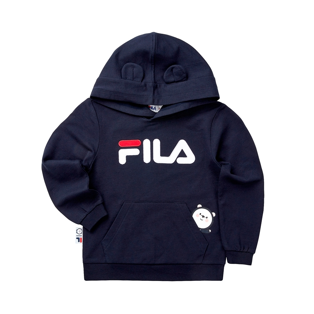 FILA KIDS #WONNIE系列小童帽TEE-丈青 1TET-8457-NV
