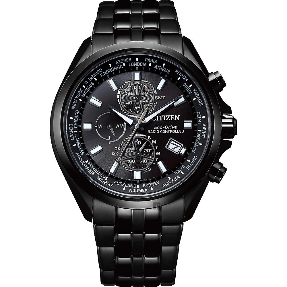 CITIZEN Eco-Drive 時空行者電波腕錶-AT8205-83E-44mm