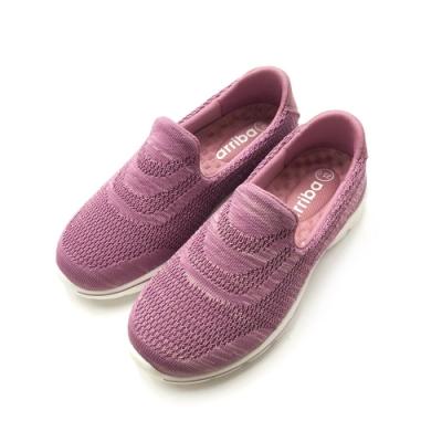 ARRIBA艾樂跑女鞋-飛織輕量懶人鞋 便鞋-粉/黑(FA538)