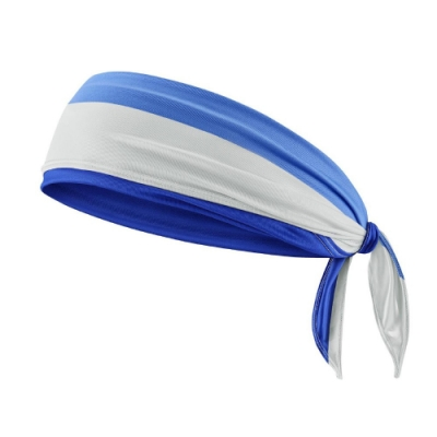 Nike 頭帶 Cooling Running Bandana 涼感 路跑 慢跑 髮帶 穿搭 涼爽 藍 白 N1000510958OS