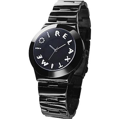 RELAX TIME 101獨家設計品牌手錶-IP黑x白時標/38mm