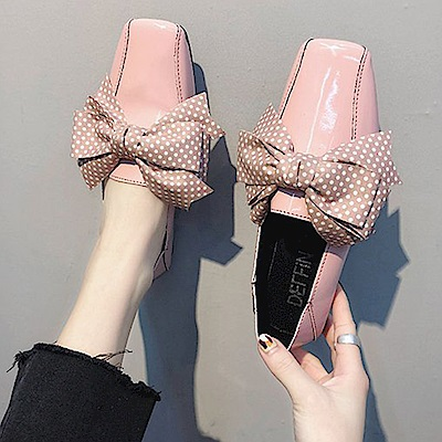 韓國KW美鞋館 搶鮮購英倫復古百搭平底鞋-粉色