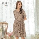 東京著衣-YOCO 法式優雅滿版碎花寬鬆洋裝-S.M.L(共兩色)