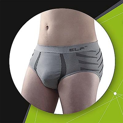 三合豐 ELF 男性竹炭+銀纖維機能美型三角平口內褲