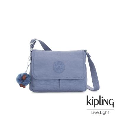 Kipling 氣質粉嫩藍翻蓋斜背包-SHAYNA