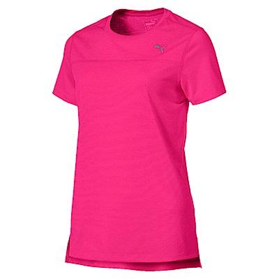 PUMA-女性慢跑系列素色短袖T恤-洋桃紅-歐規