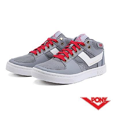 【PONY】Atop 系列-復古滑板鞋款-女-灰