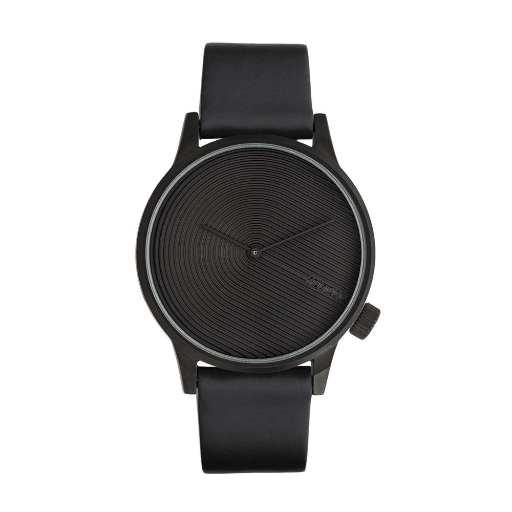 KOMONO Winston Deco 腕錶-瑪瑙黑/41mm