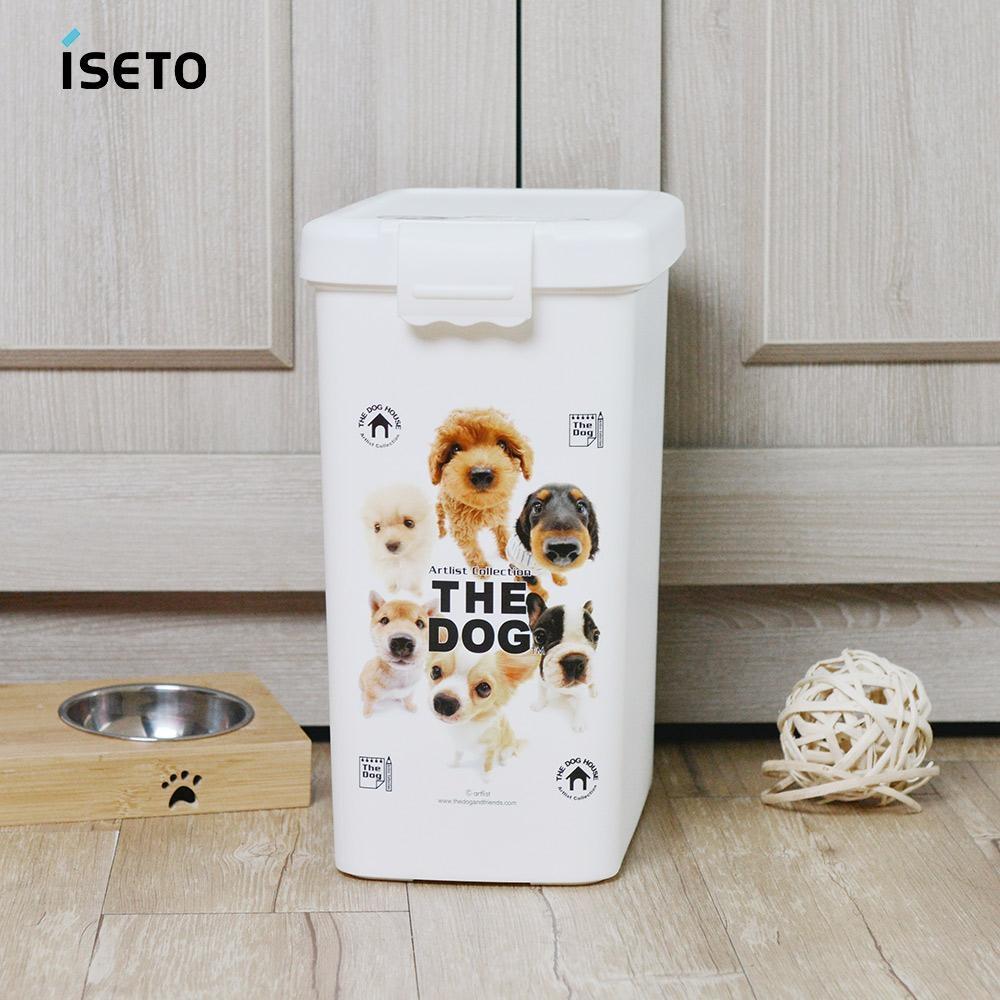 【nicegoods】日本ISETO 寵物飼料零食密封收納桶-13L