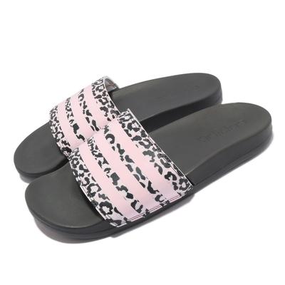 adidas 拖鞋 Adilette Comfort 套腳 女鞋 愛迪達 夏日 輕便 簡約 舒適 黑 粉 H01038