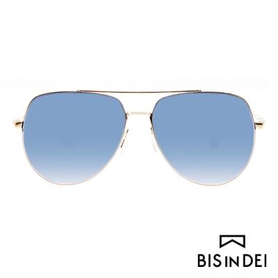 BIS IN DEI 雙槓金屬框太陽眼鏡-藍