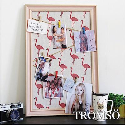 TROMSO質感生活 木夾子布告欄照片框-粉紅火鶴