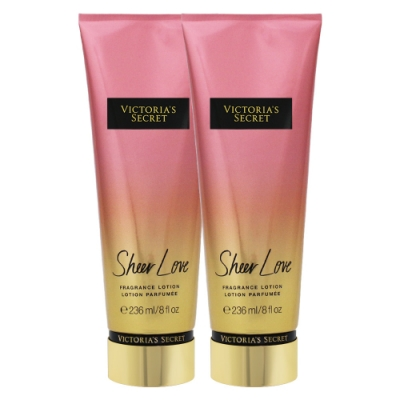 (2入)-Victoria s Secret 維多利亞的祕密 純淨的愛 香氛美體乳 236ml(Sheer Love)