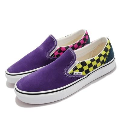 Vans 休閒鞋 Classic Slip On 懶人鞋 男鞋 無鞋帶 棋盤格 街頭風 麂皮 帆布 多色 VN0A4BV3006