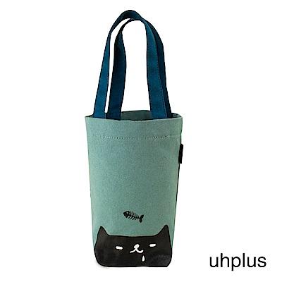uhplus 長版飲料袋-喵日常 貪吃鬼(藍)
