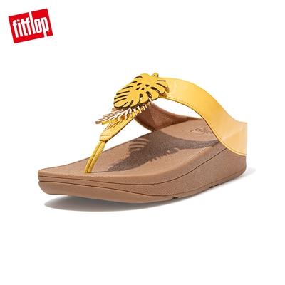 FitFlop FINO JUNGLE LEAF TOE-POST SANDALS熱帶葉飾夾腳涼鞋-女(夕陽黃)