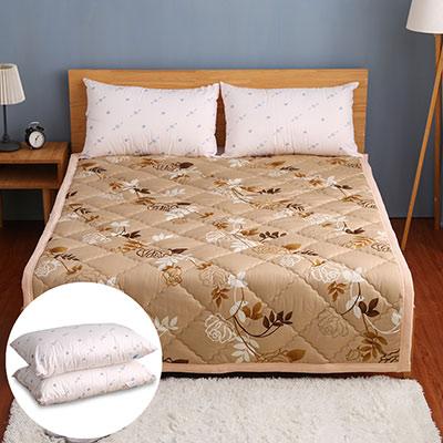 卓瑩 奈米遠紅外線保命毯-黃金花+遠紅外線枕頭二入(超值組合)