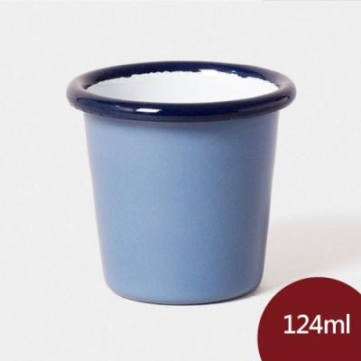 英國Falcon 獵鷹琺瑯 迷你水杯  124ml 長春藍