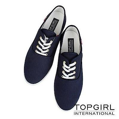 【TOP GIRL】繽紛糖果系列帆布鞋-女-丈青