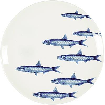《EXCELSA》陶製平盤(丁香魚)