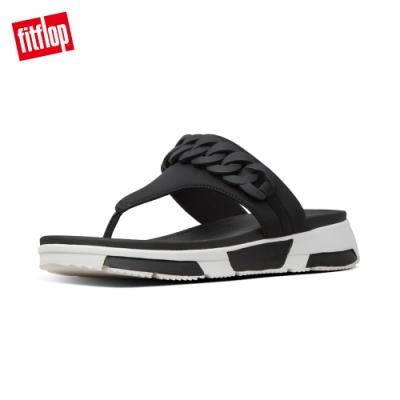 FitFlop HEDA CHAIN TOE-THONGS 運動風夾腳涼鞋-女(黑色)