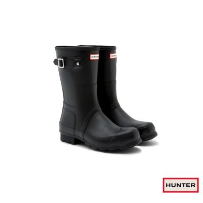 HUNTER - 男鞋-霧面短靴 - 黑