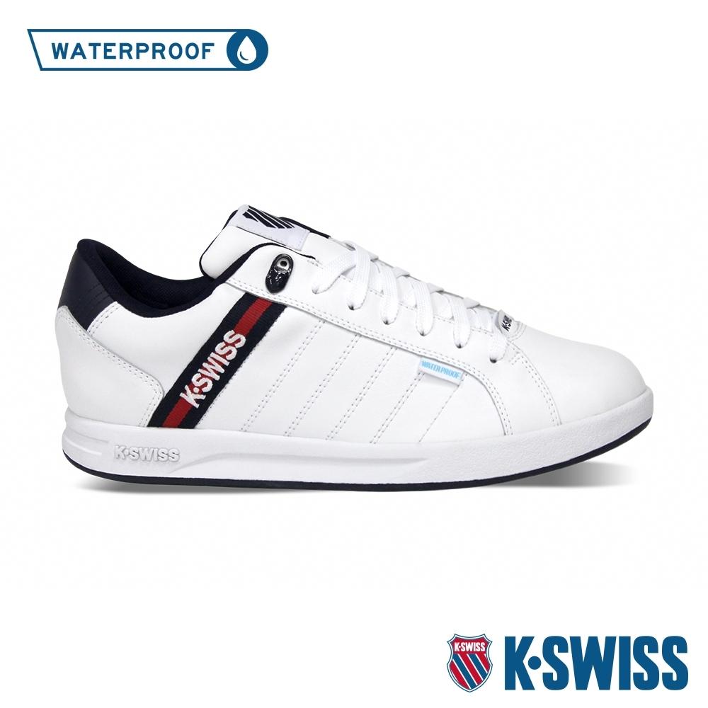 K-SWISS Lundahl WP EM防水系列 時尚運動鞋-女-白/藍/紅