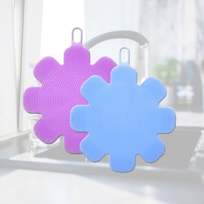 多魔潔 4入魔法矽膠起泡王萬用刷附多功能耐高溫隔熱墊