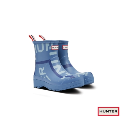 HUNTER - 男鞋 - PLAY印花霧面短靴 - 藍