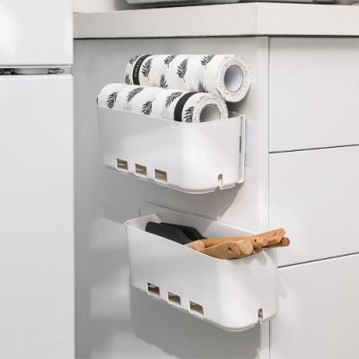 【Dagebeno荷生活】滑軌式廚櫃側邊收納盒(2入) 調味料架伸縮抽屜式多功能置物架