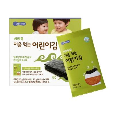 韓國 BEBECOOK 幼兒海苔(原味、紅蘿蔔)